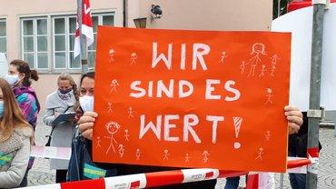 30.09.2020   KiTa Streik stiller Protest