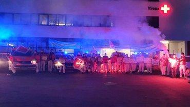 Aktion Leuchtfeuer DRK Ulm Tarifrunde DRK Leuchtfeuer in der Schlichtung